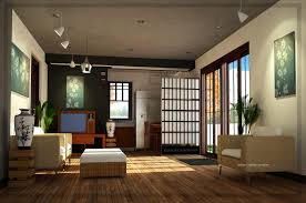 sliding door beside balcony vases corner japanese living room
