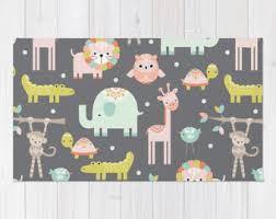 owl rug woodland owl decor whimsical kids print 3x5 rug 4x6