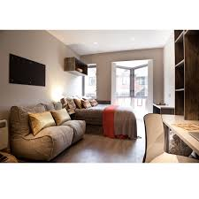 2 seater cream sofa designer bean bag couch cream fabric