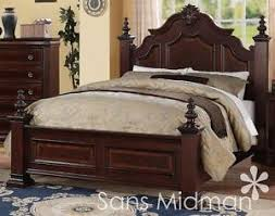 new chanelle size bed set 2 pc traditional cherry wood