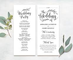 wedding programs diy free wedding program templates wedding program ideas