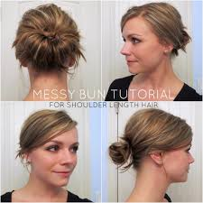 11 diy messy bun tutorial for mediun to long hair easy messy bun