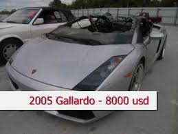 crashed for sale salvage lamborghini for sale