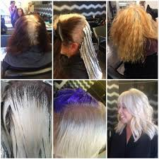 white hair with black lowlights first skills color how to help a client transition to naturally