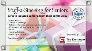stuff a stocking for seniors amherstburg community services