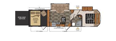 Fifth Wheel Trailers Floor Plans by Dutchmen Voltage Toy Hauler Fifth Wheel Sales In Tennessee