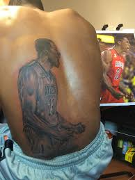 car enthusiast tattoo rondae hollis jefferson has a tattoo of himself on his back
