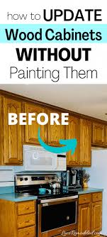 how to freshen up stained kitchen cabinets updating wood kitchen cabinets remodeled