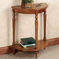 Half Moon Tables Living Room Furniture by High Brown Wooden Half Moon Entry Table In A Beautiful Style Of
