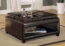 faux leather coffee table coffee table wonderful best ideas leather ottoman coffee table