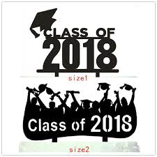 graduation cake toppers class of 2018 cake toppers acrylic 2018 graduation cake picks with