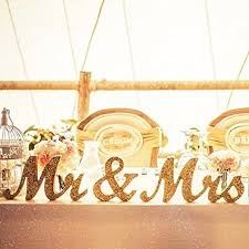 mr mrs wedding table decorations amazon com mr mrs letters sign golden glitter mr mrs diy