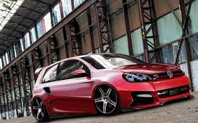 volkswagen red car volkswagen golf gti stance stanceworks red cars wallpapers hd