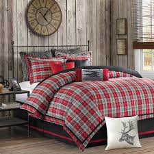 Plaid Bed Set Hadley Plaid Comforter Set By Woolrich Hayneedle