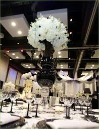 Tower Vases For Centerpieces 35 Black And White Wedding Endearing Tall Black Vases For Wedding