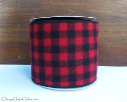 and black plaid ribbon reserved wired ribbon 4 and black buffalo plaid flannel check