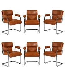 mid century italian dining chairs by mariani set of 6 for sale at
