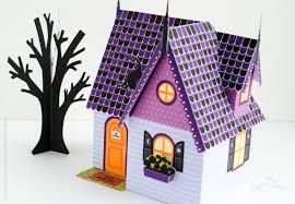 Miniature Halloween Ornaments by Halloween Haunted House Kit Paper Dollhouse Printable Halloween