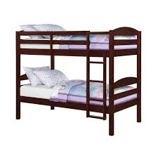 white metal bunk bed with futon