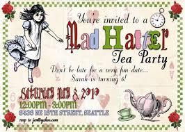 mad hatter tea invitations decorations activites