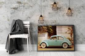 Wohnzimmer Retro Fototapeten Poster Wandsticker Leinwandbilder Myloview De