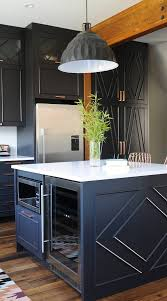 grey kitchen cabinets with white countertop 39 black kitchen cabinet ideas entering the side