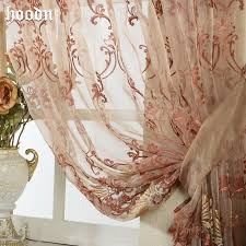 embroidery sheer curtains decorative