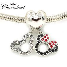 pandora bracelet charms sterling silver images Silver charm cartoon minnie mouse couple heart fit pandora jpg