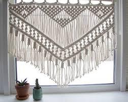 macrame curtain etsy