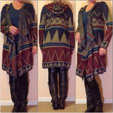 tribal sweater 46 sweaters aztec tribal duster sweater cardigan from