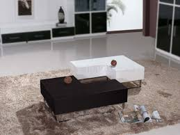 Wenge Coffee Tables Matte Wenge U0026 High Gloss White Modern 2pc Coffee Table