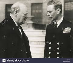 winston churchill with king george vi may 8 1948 they are in
