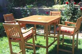 teak patio table with leaf bar height patio table and chairs photo of tall furniture outdoor