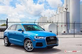 audi q3 modified 2016 hainan blue q3 lowered on vmr wheels advanced automotive