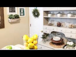 kitchen refresh ideas home decor restyling our kitchen hutch kitchen hutch decor