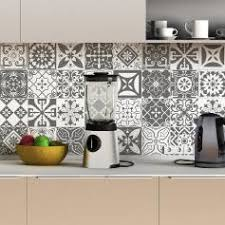 carreaux cuisine stickers carrelage 10x10 stickers imitation carrelage ambiance
