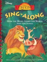 disneys lion king singalong unknown author paperback
