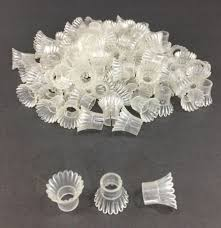 vintage christmas light covers clear plastic starburst flowers lot