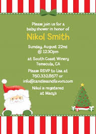 christmas invitations santa claus christmas invitations candles and favors