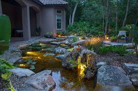 led underwater pond water feature lighting services rochester