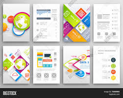 set flyer brochure design vector u0026 photo bigstock