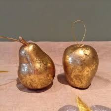 find more golden apple and pear ornaments sale for sale