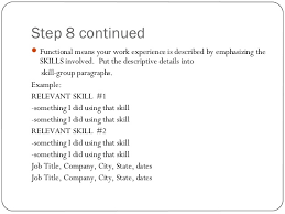 Example Of Special Skills In Resume by Resume Writing Ppt Presentation