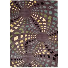 Overstock Area Rug Nourison Overstock Parallels Lavender 3 Ft 6 In X 5 Ft 6 In
