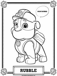 paw patrol coloring pages rubble realistic coloring pages