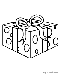 birthday present coloring coloring pages
