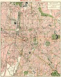 map brussels map of brussels bruxelles in 1920 buy vintage map replica