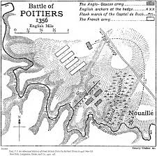 map of poitiers the battle of poitiers september 19 1356 hundred years war