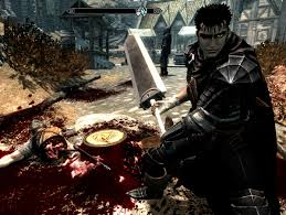 one of my old screenshots i have found of berserk mod for tesv