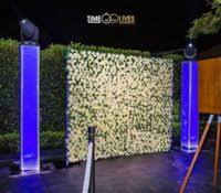 wedding backdrop hire sydney time of our lives events wedding djs photo booths flower wall